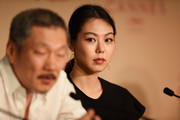 """Director Hong Sangsoo and Kim Min Hee attend the """"The Day After (Geu Hu)"""" press conference during the 70th annual Cannes Film Festival on May 22, 2017 in Cannes, France."""