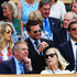 Bradley Cooper Bear Grylls Photos - Alice Suki Waterhouse, Bradley Cooper and Bear Grylls in the royal box for the Gentlemen's Singles semi-final match between Novak Djokovic of Serbia and Grigor Dimitrov of Bulgaria on day eleven of the Wimbledon Lawn Tennis Championships at the All England Lawn Tennis and Croquet Club on July 4, 2014 in London, England. - Bradley Cooper Bear Grylls Photos - 4 of 8