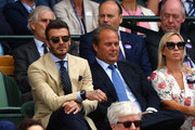 Former football player David Beckham attends the Royal Box during Day eleven of The Championships - Wimbledon 2019 at All England Lawn Tennis and Croquet Club on July 12, 2019 in London, England.