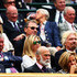 Richard Branson Photos - Sir Alex Ferguson, Holly Branson and Sir Richard Branson look on from the Royal Box on day seven of the Wimbledon Lawn Tennis Championships at the All England Lawn Tennis and Croquet Club on June 30, 2014 in London, England. - Wimbledon: Day 7