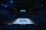 A general view of the O2 Arena as Roger Federer of Switzerland plays against  David Goffin of Belgium in their semi final match the Nitto ATP World Tour Finals at O2 Arena on November 18, 2017 in London, England.