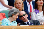 Prince Edward, Duke of Kent attends day twelve of the Wimbledon Lawn Tennis Championships at the All England Lawn Tennis and Croquet Club on July 11, 2015 in London, England.