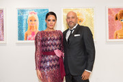 Artist/model Beau Dunn (L) and gallery owner Steph Sebbag attend Beau Dunn's 'Plastic' opening at De Re Gallery on November 17, 2016 in West Hollywood, California.