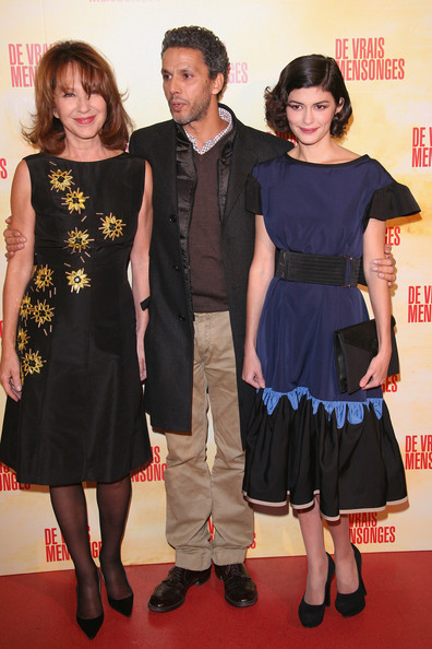 L-R  Nathalie Baye, Sami Bouajila and Audrey Tautou  attend  'De Vrais Mensonges' Paris premiere at Cinema Gaumont Opera on November 29, 2010 in Paris, France.