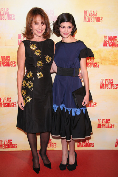 Audrey Tautou (R) and Nathalie Baye attend  'De Vrais Mensonges' Paris premiere at Cinema Gaumont Opera on November 29, 2010 in Paris, France.