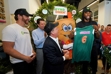 DeAndre Jordan Dunkin' And Beyond Meat Unveil Beyond Sausage Breakfast Sandwich