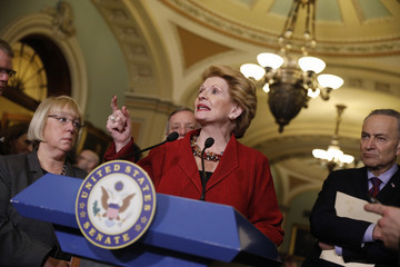 Debbie Stabenow Senate Democrats Address the Media After Their Weekly Policy Luncheon