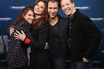 Debra Messing Eric McCormack SiriusXM's 'Town Hall' With the Cast of 'Will & Grace'