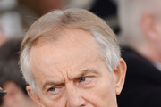 Tony Blair during the dedication service of The Iraq and Afghanistan memorial at Horse Guards Parade on March 9, 2017 in London, England.