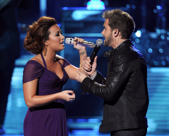 Demi Lovato Singers Demi Lovato and Pablo Alboran perform onstage during the 12th annual Latin GRAMMY Awards at the Mandalay Bay Events Center on November 10, 2011 in Las Vegas, Nevada.