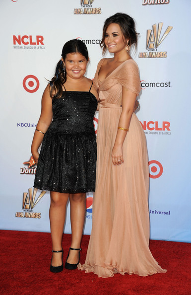Demi Lovato Actors Madison De La Garza (L) and Demi Lovato arrives at the 2011 NCLR ALMA Awards held at Santa Monica Civic Auditorium on September 10, 2011 in Santa Monica, California.