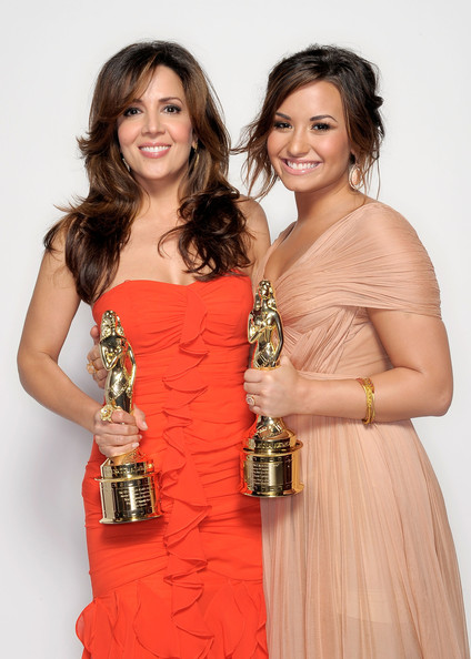 Demi Lovato Actors Maria Canals-Barrera and Demi Lovato pose for a portrait during the 2011 NCLR ALMA Awards held at Santa Monica Civic Auditorium on September 10, 2011 in Santa Monica, California.