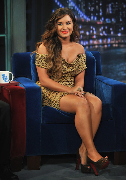 "Demi Lovato Demi Lovato visits ""Late Night With Jimmy Fallon"" at Rockefeller Center on September 20, 2011 in New York City."