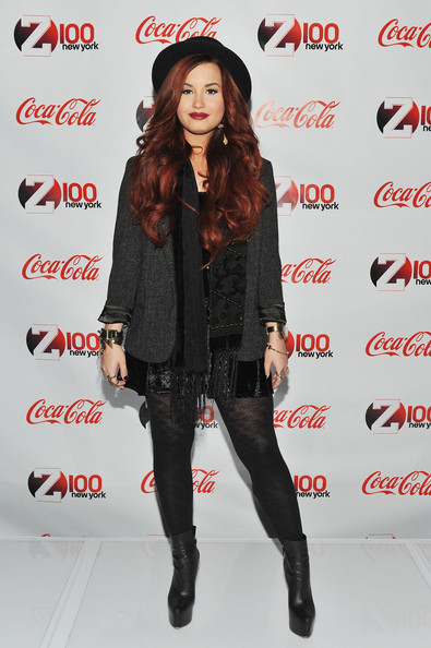 Demi Lovato Demi Lovato attends the 2011 Z100 & Coca-Cola All Access lounge at Z100's Jingle Ball 2011 pre-show at Hammerstein Ballroom on December 9, 2011 in New York City.