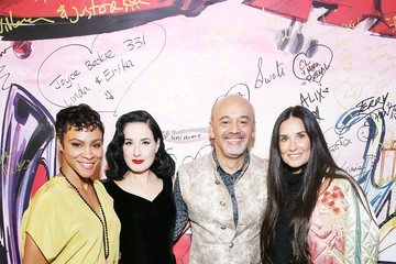 Demi Moore Christian Louboutin and Sabyasachi Unveil Capsule Collection at Just One Eye