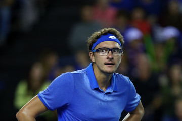 Denis Istomin Great Britain vs. Uzbekistan - Davis Cup By BNP Paribas World Group Play Offs - Day One