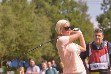 Denise van Outen Celebrity Cup at Celtic Manor Resort - Day One