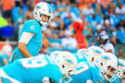 Jay Cutler #6 of the Miami Dolphins during the second quarter against the Denver Broncos at the Hard Rock Stadium on December 3, 2017 in Miami Gardens, Florida.