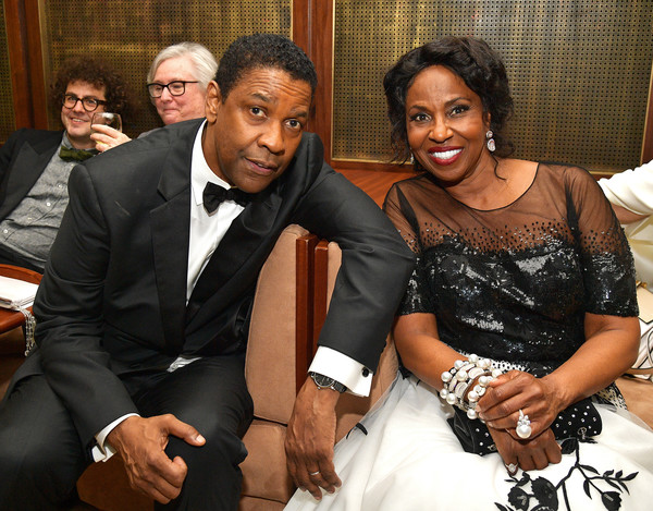 47th AFI Life Achievement Award Honoring Denzel Washington - After Party [people,event,suit,formal wear,fun,smile,ceremony,family,tuxedo,happy,denzel washington,pauletta washington,denzel washington after party,afi life achievement award,sunset tower hotel,california,hollywood,l,party]