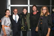 "Catherine Massey, Paul Morris, Beth Rudin DeWoody, Jonathan Brown and Kyle DeWoody attend the Depart Foundation's public opening and reception of ""Petra Cortright: Niki, Lucy, Lola, Viola"" on July 9, 2015 in Los Angeles, California."