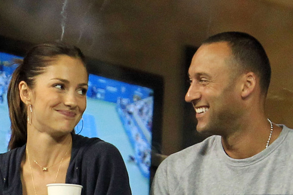 Derek Jeter and Minka Kelly - U.S. Open-Day 6