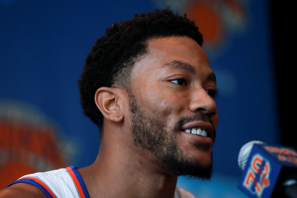 Derrick Rose Photos Photos New York Knicks Media Day Zimbio