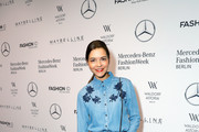 Susan Hoecke attends the 'Designer for Tomorrow' show during the Mercedes-Benz Fashion Week Berlin Spring/Summer 2018 at Kaufhaus Jandorf on July 6, 2017 in Berlin, Germany.