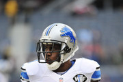 Reggie Bush #21 of the Detroit Lions on the field during warm ups before their game against the Chicago Bears at Soldier Field on December 21, 2014 in Chicago, Illinois.