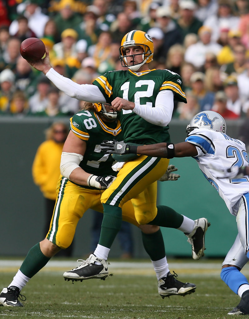 Aaron Rodgers Kevin Hobbs Aaron Rodgers Photos Detroit Lions V Green Bay Packers Zimbio
