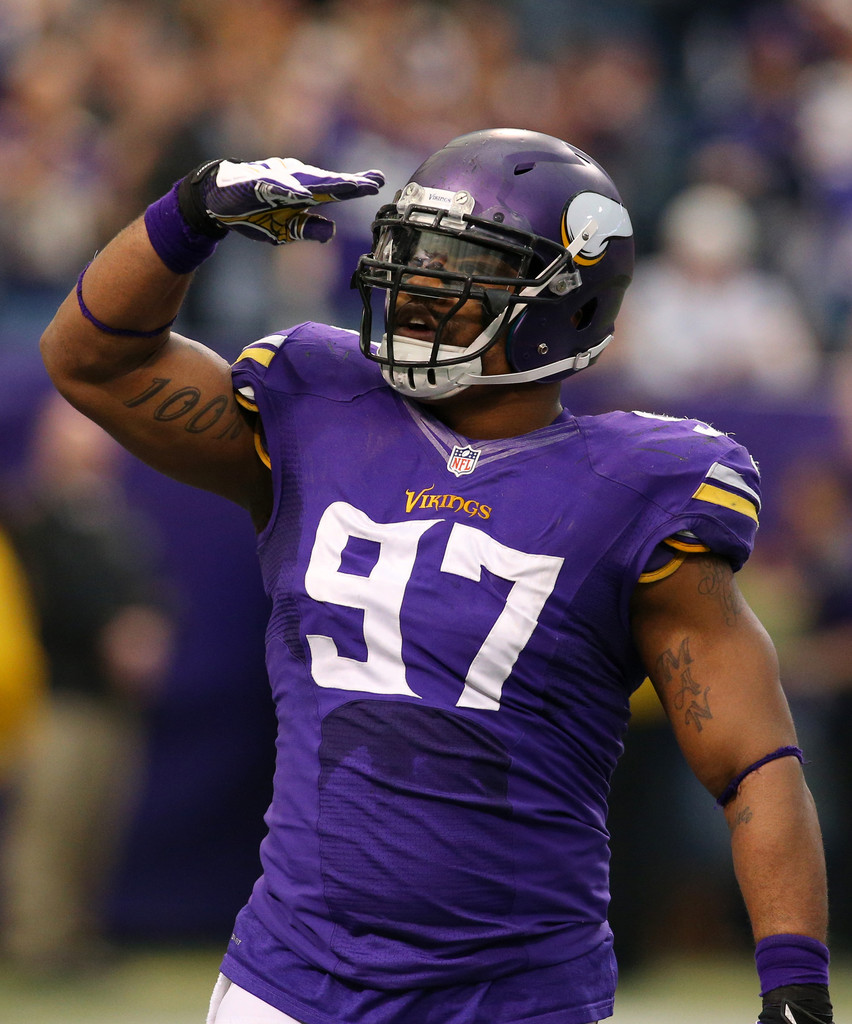 Everson Griffen in Detroit Lions v Minnesota Vikings Zimbio