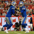 Matthew Stafford Photos - Matthew Stafford #9 hands off to LeGarrette Blount #29 of the Detroit Lions during a preseason game against the Tampa Bay Buccaneers at Raymond James Stadium on August 24, 2018 in Tampa, Florida. - Detroit Lions vs. Tampa Bay Buccaneers