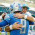 Brock Osweiler Photos - Matthew Stafford #9 of the Detroit Lions greets Brock Osweiler #8 of the Miami Dolphins after the game at Hard Rock Stadium on October 21, 2018 in Miami, Florida. - Detroit Lions vs. Miami Dolphins
