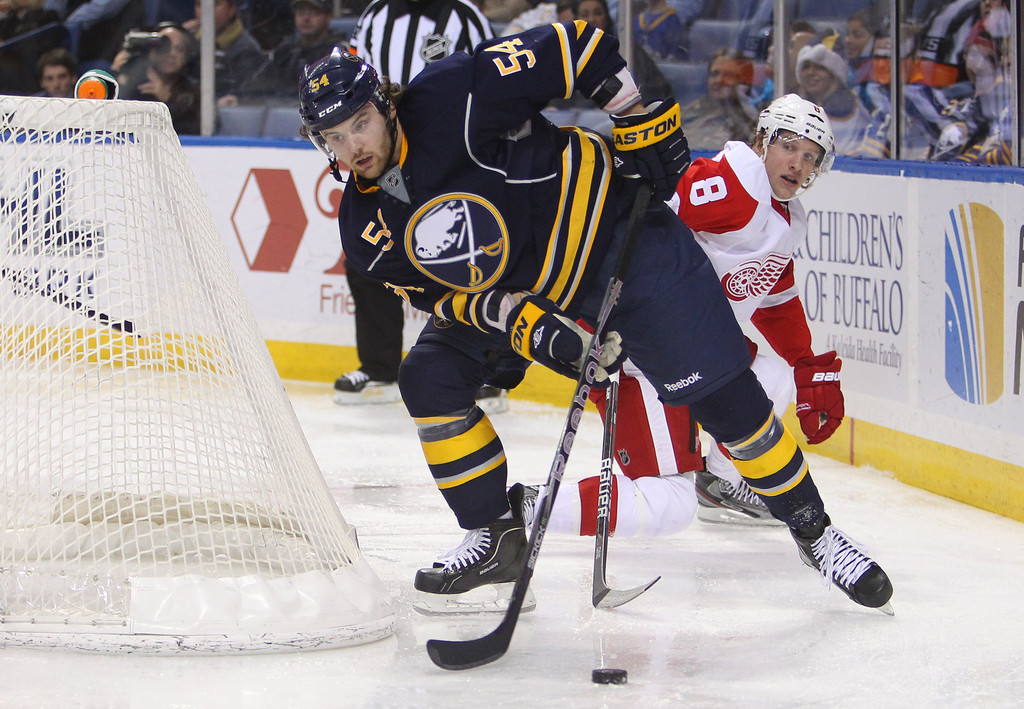 zack kassian in detroit red wings v buffalo sabres 1 of 2 zimbio. Black Bedroom Furniture Sets. Home Design Ideas