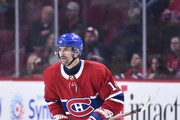 Tomas Plekanec #14 of the Montreal Canadiens skates in his 1000th NHL career game against the Detroit Red Wings at the Bell Centre on October 15, 2018 in Montreal, Quebec, Canada.  The Montreal Canadiens defeated the Detroit Red Wings 7-3.