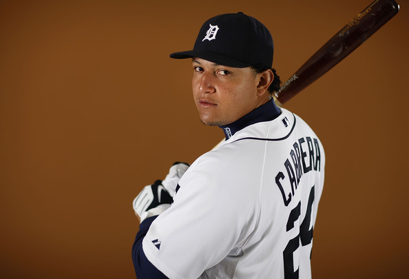 Miguel Cabrera #24 of the Detroit Tigers poses during photo day at the Detroit Tigers Spring Training facility on February 27, 2010 in Lakeland, Florida.