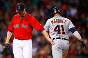 Jon Lester and Victor Martinez Photos Photo