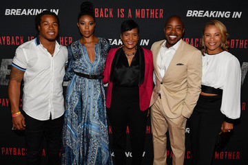 Devonta Freeman 'BREAKING IN' Star And Producer Gabrielle Union, & Producer Will Packer Attend A Private Screening At Regal Atlantic Station In Atlanta