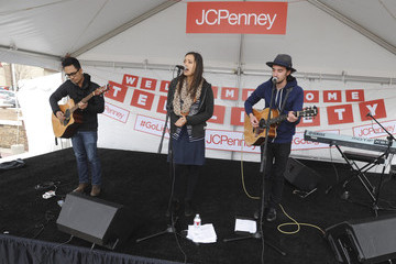 "Dia Frampton JCPenney Celebrates Olympic Gold Medalist Ted Ligety At ""Welcome Home"" Event"
