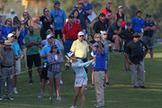 Lydia Ko of New Zealand hits her third shot on the 17th hole during the third round of the Diamond Resorts Tournament of Champions at Tranquilo Golf Course at Four Seasons Golf and Sports Club Orlando on January 19, 2019 in Lake Buena Vista, Florida.