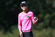 Lydia Ko of New Zealand waves to the gallery after making a par on the sixth hole during the second round of the Diamond Resorts Tournament of Champions at Tranquilo Golf Course at Four Seasons Golf and Sports Club Orlando on January 18, 2019 in Lake Buena Vista, Florida.