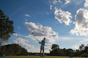 Lydia Ko of New Zealand watches her tee shot on the 17th hole during the third round of the Diamond Resorts Tournament of Champions at Tranquilo Golf Course at Four Seasons Golf and Sports Club Orlando on January 19, 2019 in Lake Buena Vista, Florida.