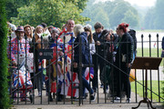 Members of the public wait to be let in to view the statue of Diana, Princess of Wales, in the Sunken Garden at Kensington Palace on July 02, 2021 in London, England. July 1st would have been the 60th birthday of Princess Diana, who died in 1997. At a ceremony here yesterday, her sons Prince Harry, Duke of Sussex and Prince William, Duke of Cambridge, unveiled the statue, by sculptor Ian Rank-Broadley, in her memory.  Photo by Jonathan Brady-WPA Pool/Getty Images)
