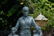 Prince William, Duke of Cambridge (left) and Prince Harry, Duke of Sussex unveil a statue they commissioned of their mother Diana, Princess of Wales, in the Sunken Garden at Kensington Palace, on what would have been her 60th birthday on July 1, 2021 in London, England. Today would have been the 60th birthday of Princess Diana, who died in 1997. At a ceremony here today, her sons Prince William and Prince Harry, the Duke of Cambridge and the Duke of Sussex respectively, will unveil a statue in her memory.