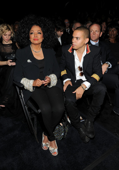 Diana Ross Singer/Actress Diana Ross (L) and Evan Ross attend the 54th Annual GRAMMY Awards held at Staples Center on February 12, 2012 in Los Angeles, California.