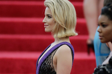 Dianna Agron Red Carpet Arrivals at the Met Gala