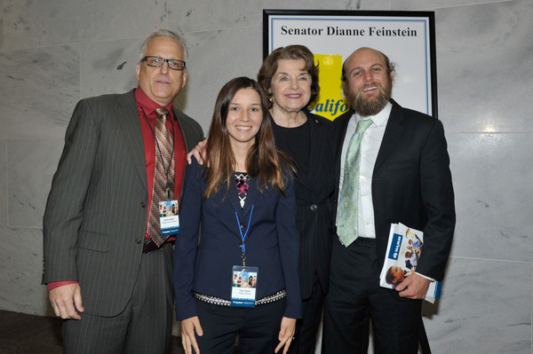 Dianne Feinstein And Aaron Burch Photos Photos