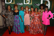 (L-R) Loni Love, Ryan Michelle Bathe, Tiffany Persons, Cree Summer, Yvette Nicole Brown, Koshie Mills, Amara La Negra, and Kimberly Paige attend The Diaspora Dialogues' 3rd Annual International Women Of Power Luncheon at Arbat Banquet Hall on March 07, 2020 in Burbank, California.