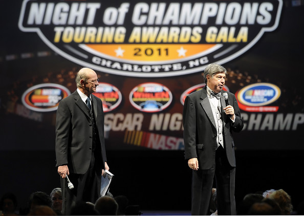 Berggren and Joy at last years NASCAR awards ceremony