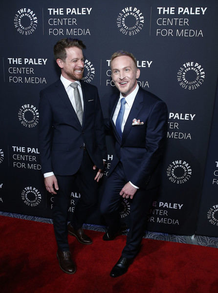 The Paley Honors: A Gala Tribute To LGBTQ+ [suit,premiere,carpet,tuxedo,event,formal wear,red carpet,flooring,official,paley honors: a gala tribute to lgbtq,the paley honors: a gala tribute to lgbtq,new york city,the ziegfeld ballroom,taylor,dickey dibella,robin]