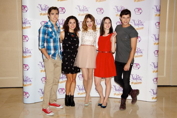 'Violetta' Madrid Photo Call [violetta,madrid photocall,event,fashion design,jorge blanco,diego dominguez,ludovica comello,martina stoessel,l-r,madrid,alba rico,photocall]